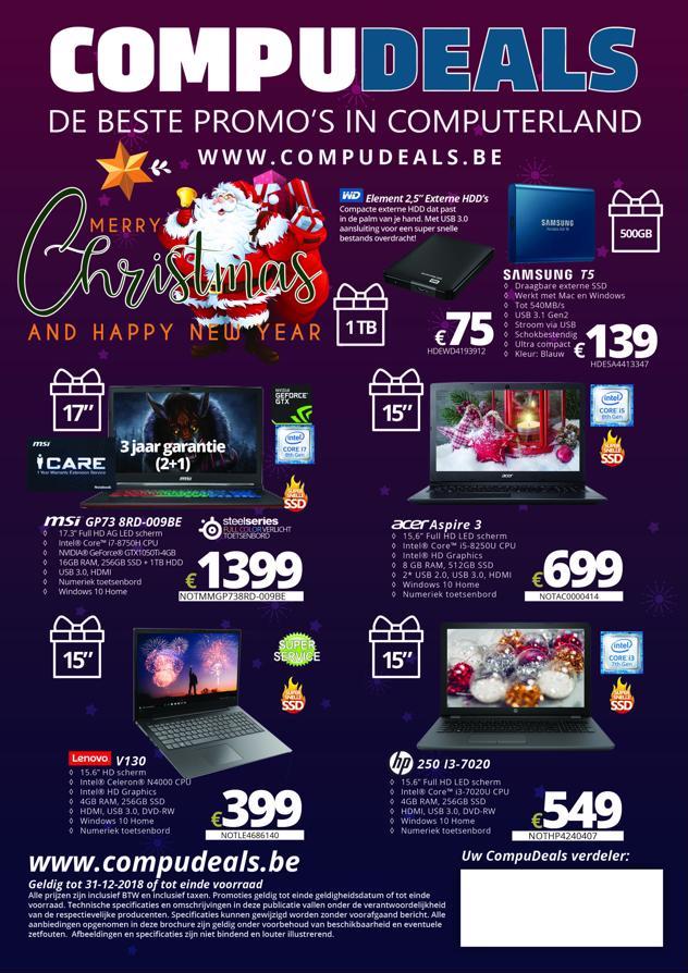 De CompuDeals folder, boordevol fantastische  promoties
